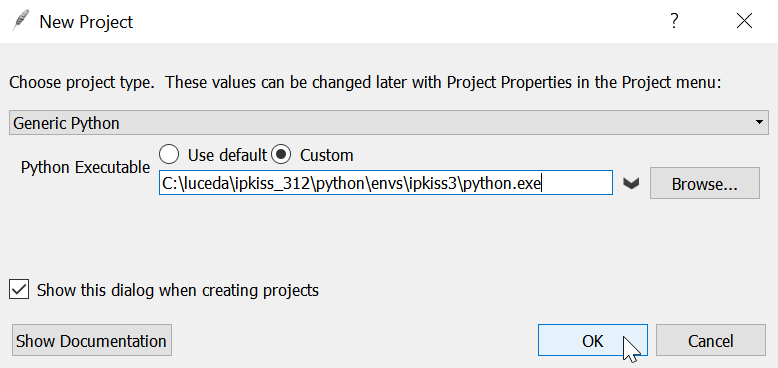 Start a project in Wing IDE and choosing the correct Python interpreter.