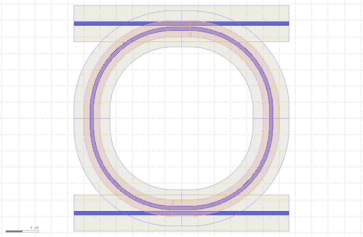 Ring resonator with opening layer